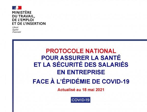 Protocole national pour assurer la santé et la sécurité des salariés : nouvelle version !